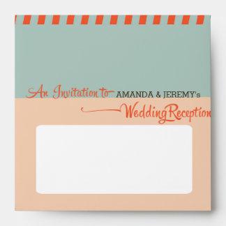 Modern Retro Vinyl Record Wedding Reception Envelope