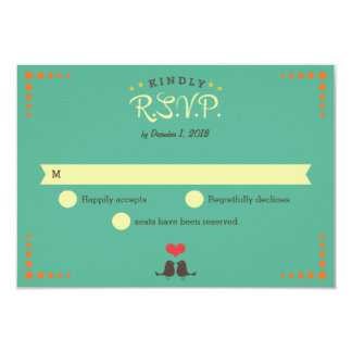 Modern Retro Vinyl Record Wedding RSVP 9 Cm X 13 Cm Invitation Card