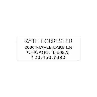 Modern Return Address | Custom Text 4 Lines Phone Self-inking Stamp