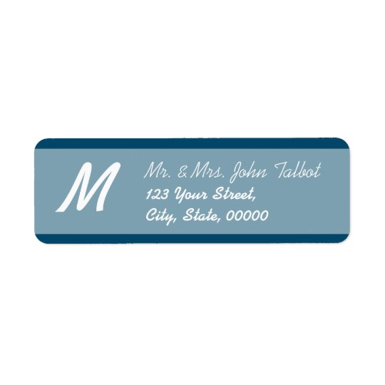 Modern Return Address Label Choose your colour 3