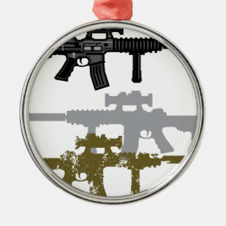 Modern Rifle Christmas Ornament