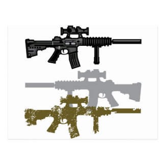 Modern Rifle Postcard