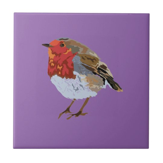Modern Robin Illustration Tile