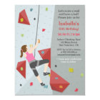Modern Rock Climbing Birthday Party Invitations