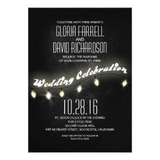 modern romantic black chalkboard wedding invites