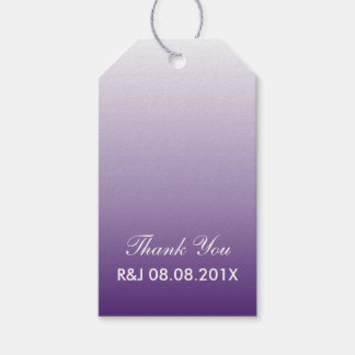modern romantic summer lilac ombre purple wedding gift tags
