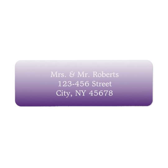 modern romantic summer lilac ombre purple wedding return address label