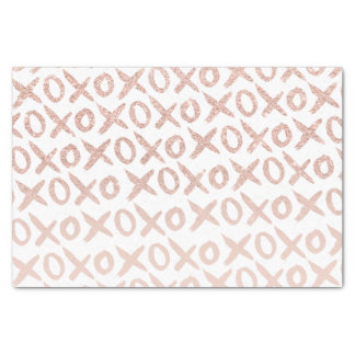Modern rose gold blush pink love xoxo typography tissue paper