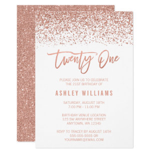 21st birthday invitations announcements zazzle uk