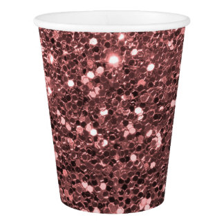 Modern Rose Gold Faux Glitter Pink Print