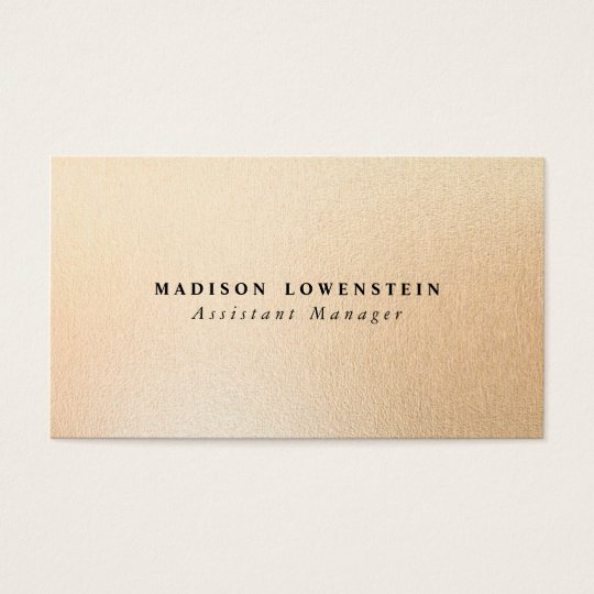 Modern Rose Gold Foil Pattern Business Card