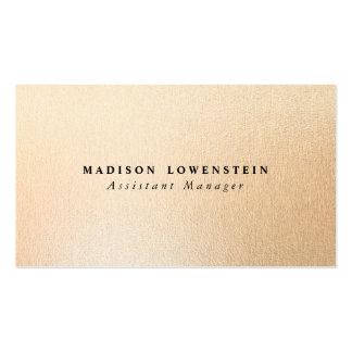 Modern Rose Gold Foil Pattern Pack Of Standard Business Cards