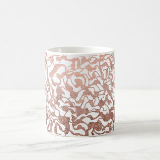 Modern rose gold geometric hand drawn pattern coffee mug