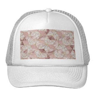 Modern rose gold geometric star flower pattern cap