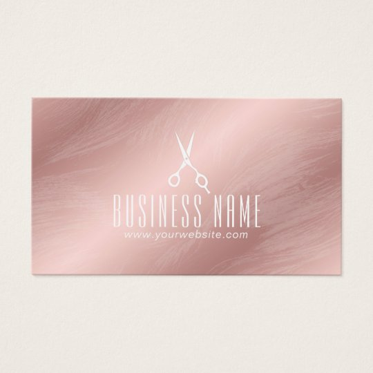 Modern Rose Gold Hair Salon Stylist Appointment Business