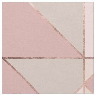 Modern rose gold peach tan blush color block fabric