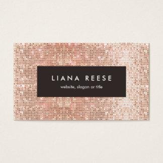 Modern Rose Gold Sequin Beauty Salon Brown Plaque