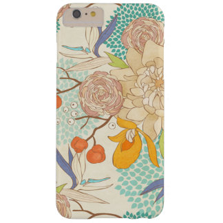 Modern Rose Peony Flower Pattern Barely There iPhone 6 Plus Case