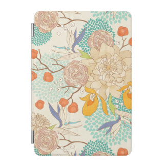 Modern Rose Peony Flower Pattern iPad Mini Cover
