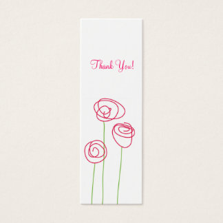 Modern Roses, Gift Tags Mini Business Card