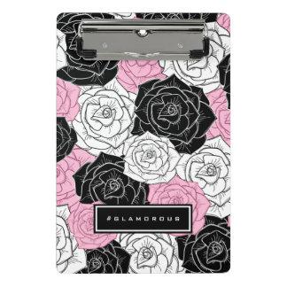 Modern roses mini clipboard