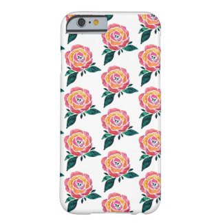 Modern Roses Watercolor Bold iPhone Case
