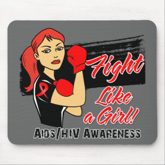 Modern Rosie Fight Like a Girl - AIDS Mouse Pads