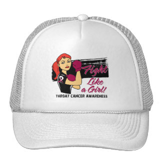 Modern Rosie Fight Like a Girl - Throat Cancer Mesh Hats