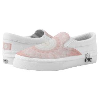 Modern round fractal design slip on shoes