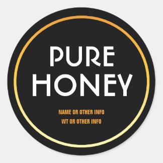 Modern Round Honey Jar Label Round Sticker