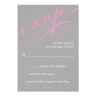 Modern RSVP Card 9 Cm X 13 Cm Invitation Card