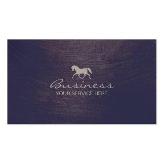 Modern Running Horse Violet Texture Business Card
