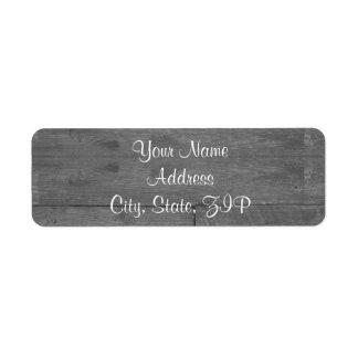 Modern Rustic Barn Wood Anniversary Return Address Label