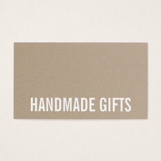 Modern rustic brown kraft paper cardboard handmade business card
