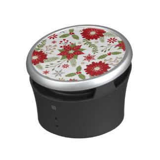 modern rustic Christmas flowers Bluetooth Speaker