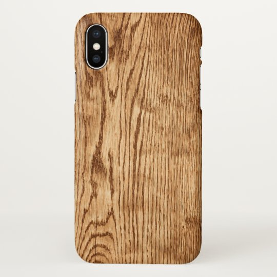 Modern Rustic Country Faux Wood Texture Zazzle iPhone