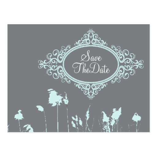 Modern Rustic Country Wedding SaveTheDate Post Cards