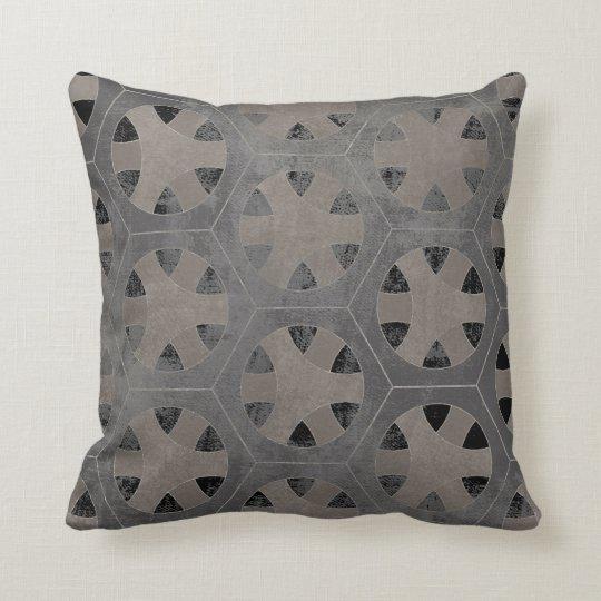 Modern Rustic Farmhouse Hexagon Hexagonal Pattern Cushion