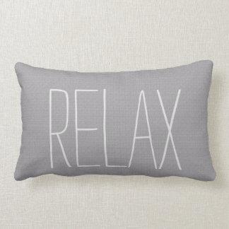 Modern rustic light gray burlap texture Relax Lumbar Cushion