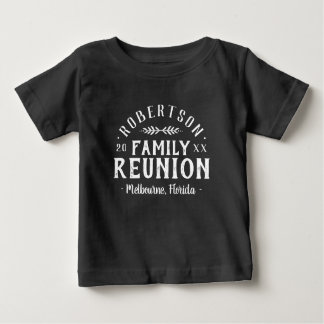 Modern Rustic Personalized Family Reunion Tee
