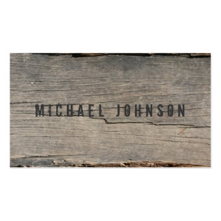 Modern Rustic Wood Unique Pack Of Standard Business Cards