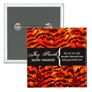 Modern Safari  WildLife Print Name Tag 15 Cm Square Badge