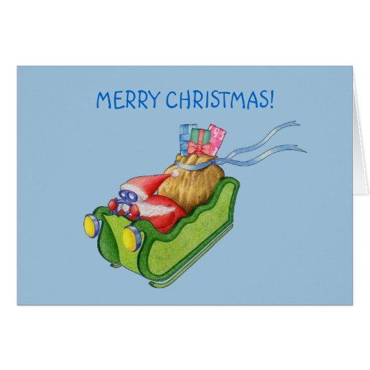 Modern Santa Card