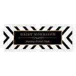Modern Sassy Gold Black White Pattern Pack Of Skinny Business Cards