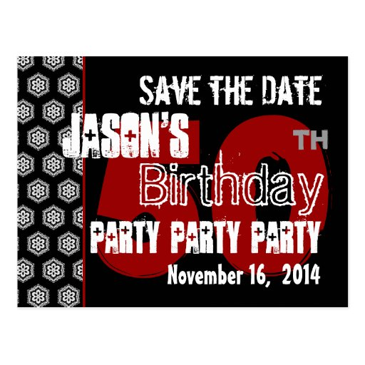 Modern Save the Date  50th Birthday Party R203 Postcards