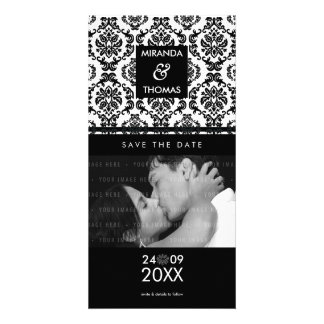 MODERN SAVE THE DATE CARD :: damask colors 10 Photo Card