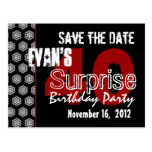 Modern Save the Date Surprise 40th Party V336 Post Card