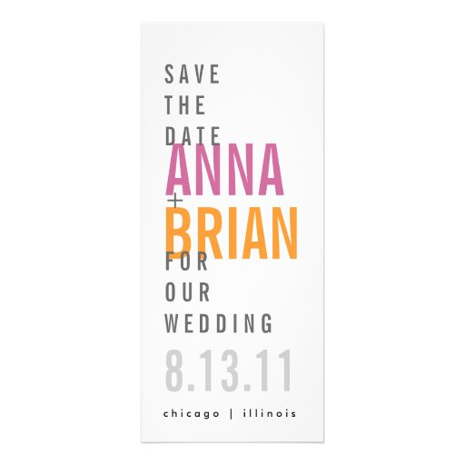 Modern Save the Date with Bold Fonts Invite