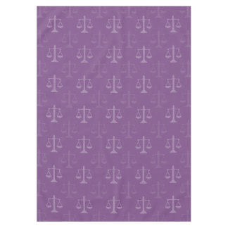 Modern Scales of Justice Pattern | Law Gifts Tablecloth