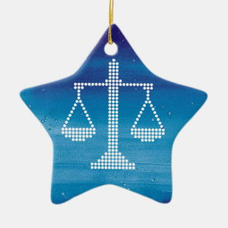 Modern Scales of Justice | Winter Ceramic Star Decoration